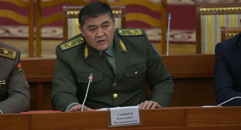 Председатель ГКНБ Камчыбек Ташиев на заседании ЖК. Архивное фото