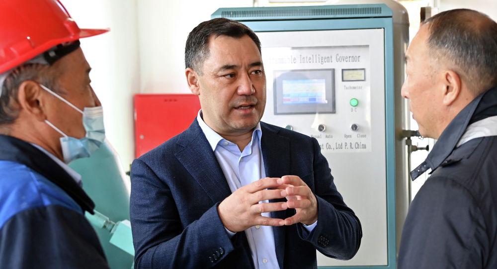 Президент Садыр Жапаров принял участие в запуске в эксплуатацию Сокулукской ГЭС-2