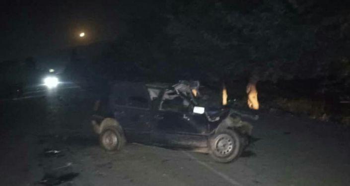 Последствия ДТП в селе Кызыл-Кыштак Кара-Сууйскоо района Ошской области