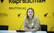 Российский блогер-путешественник Лариса Булина во время интервью редакции Sputnik Кыргызстан