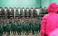 Сцена из первого сезона южнокорейского сериала Игры с кальмарами.
