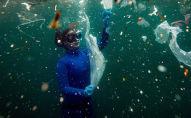 Фотография репортера из Турции Шебнем Кошкун Новая опасность для подводного мира: отходы COVID-19
