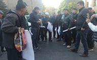 Митинг работников муниципального предприятия Бишкекские парковки и стоянки