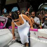 Американская модель, актриса Ким Кардашьян с мужем репером Канье Уэстом и дочерью Норт в Гаване, Куба. 5 мая 2016 года