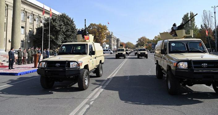 40 единиц новой бронированной военной техники переданная пограничной службе ГКНБ