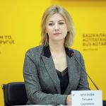 Директор Института гуманитарного образования и тестирования РФ Татьяна Круглова на брифинге в пресс-центре Sputnik Кыргызстан. 22 октября 2021 года