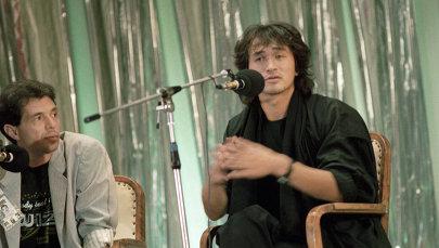 Лидер популярной рок-группы Кино Виктор Цой. Архивное фото