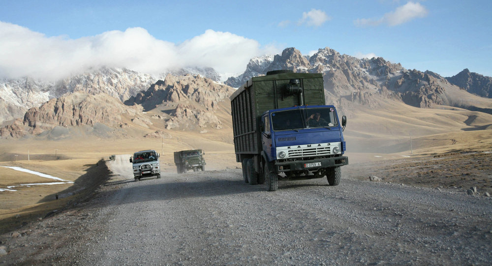 Архив: Зона таможенного контроля в Кыргызстане.