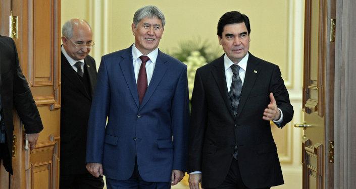 Алмазбек Атамбаев встретился с Гурбангулы Бердымухамедовым