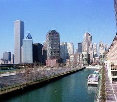 Панорама города Чикаго