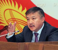 Ахматбек Келдибеков в пресс зале