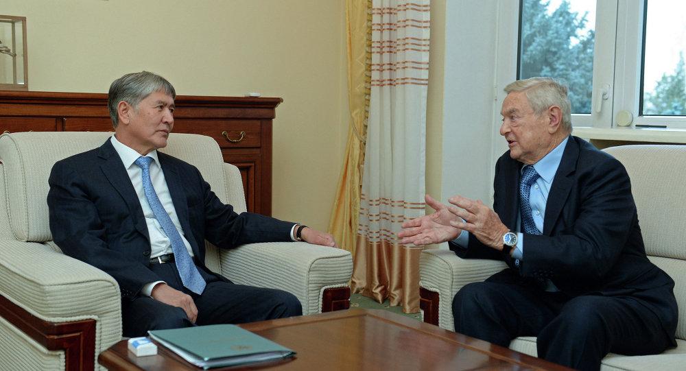 Атамбаев принял основателя института Открытого общества Джорджа Сороса