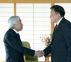 Спикер Жогорку Кенеша Асылбек Жээнбеков встретился с императором Японии Акихито.