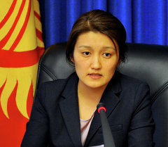 Вице-премьер-министр Эльвира Сариева. Архивное фото