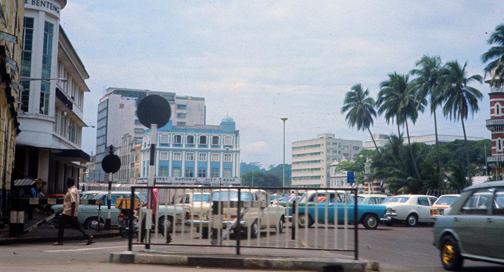 В центре города Куала-Лумпур