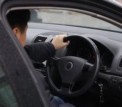 Водитель за рулем авто. Архивное фото