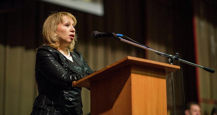 Э. Таранова в Кыргызско-Российском Славянском Университете, Бишкек