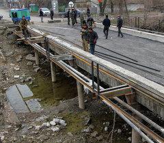 Ремонт моста в городе Бишкек