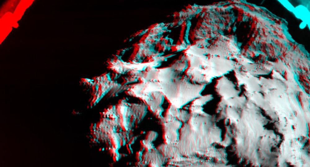 Опубликовано трехмерное изображение кометы Чурюмова — Герасименко