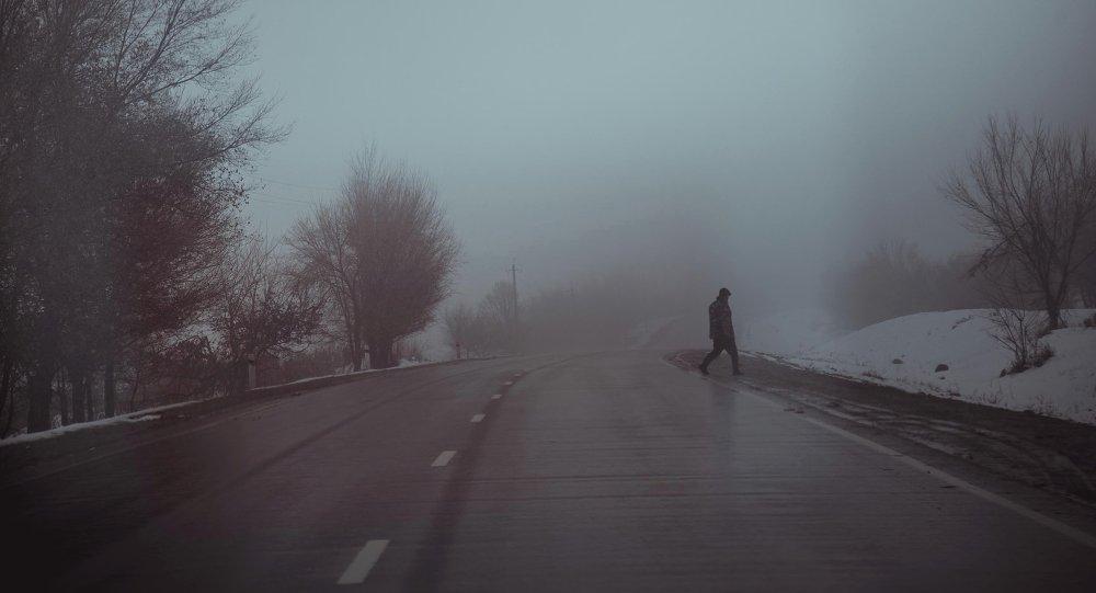Туман на трассе Бишкек—Ош