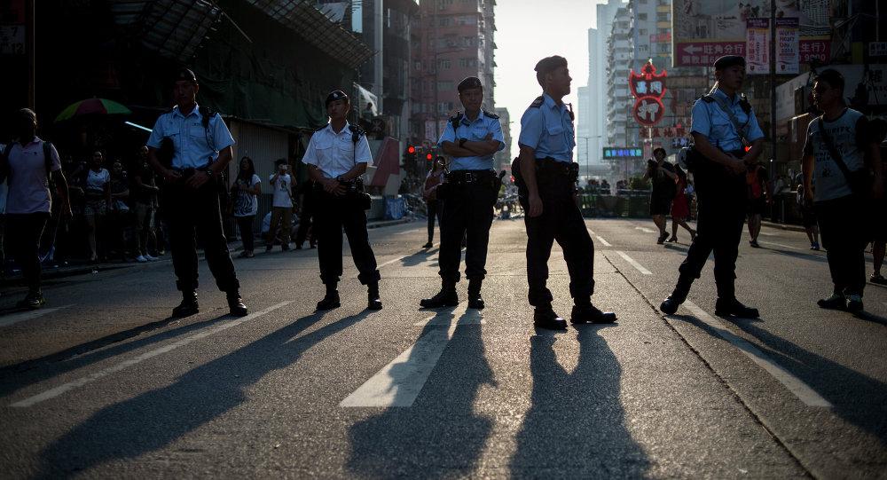Акция протеста в Гонконге