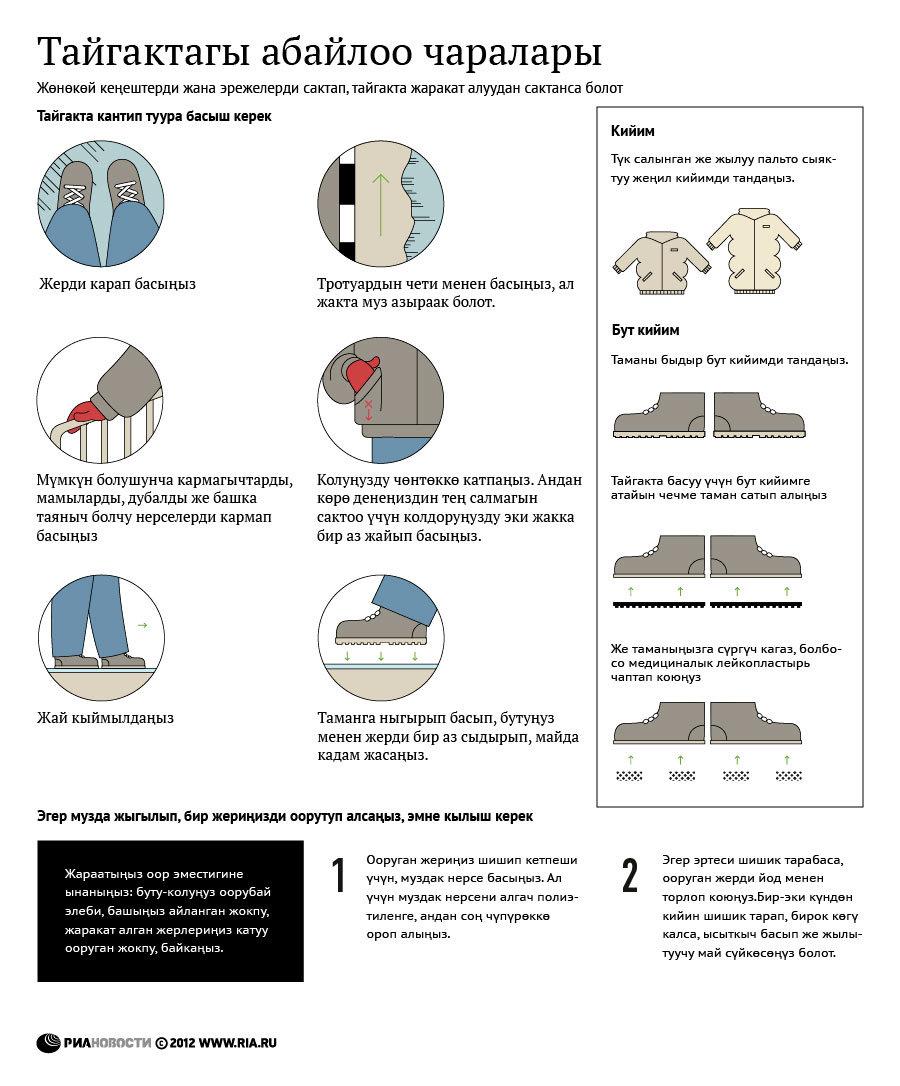Меры предосторожности при гололеде (кырг)