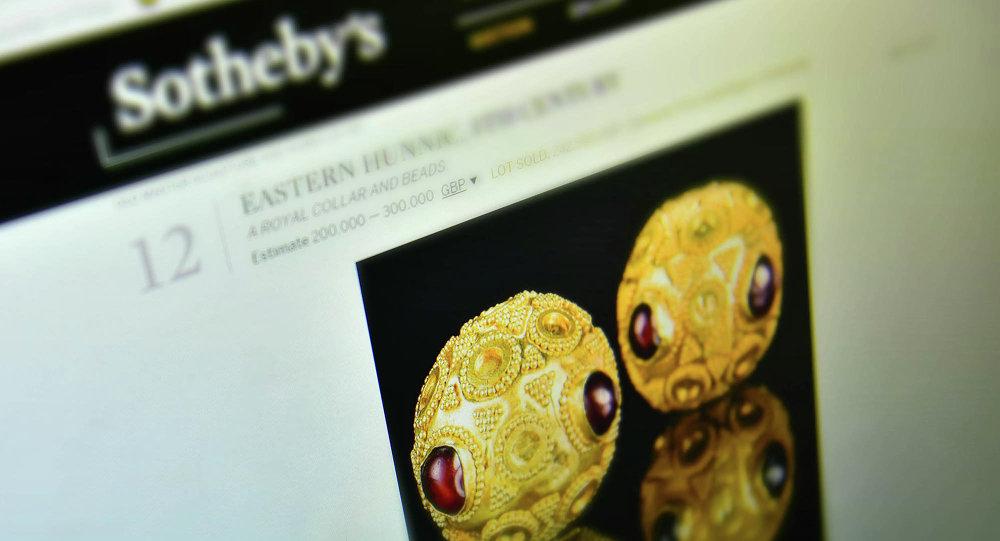 Страница сайта аукциона Сотбис