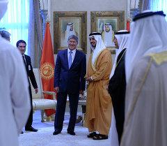 Алмазбек Атамбаев на встрече с Шейхом Мансур бин Заид Аль Нахайян