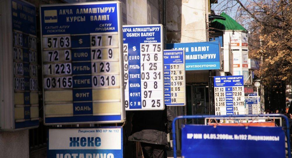 Курсы валют в Кыргызстане