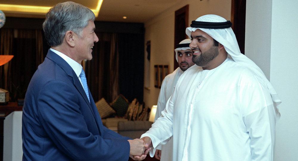 Президент Алмазбек Атамбаев встретился с Наследным Принцем Эль-Фуджайры Мухаммадом бин Хамад Аль Шарки