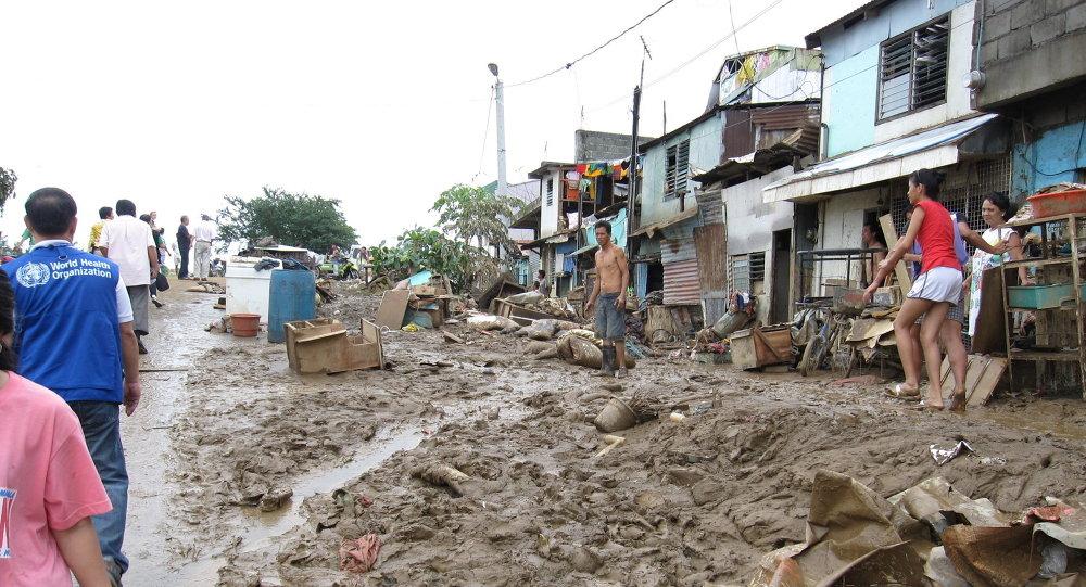 Наводнение из Тайфун Ондой ( Ketsana ) , Филиппины 2009 г.