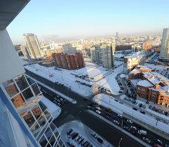 Вид на улицу Московскую в городе Екатеринбурге. Архивное фото