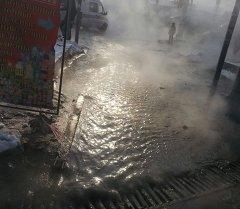 Порыв теплосети в Бишкеке