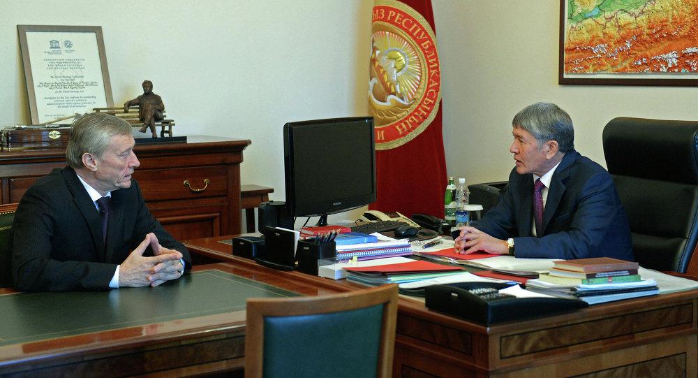 Президент Алмазбек Атамбаев принял Генерального секретаря ОДКБ Николая Бордюжу