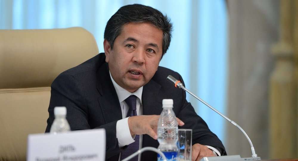 Первый вице-премьер-министр Кыргызстана Тайырбек Сарпашев