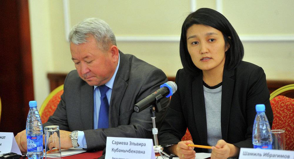 Вице-премьер-министр Эльвира Сариева. Архив