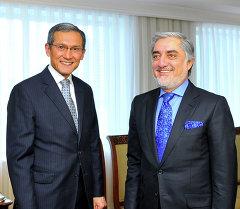 Оторбаев и Глава правительства Афганистана Абдулла Абдулла обсудили актуальные вопросы сотрудничества