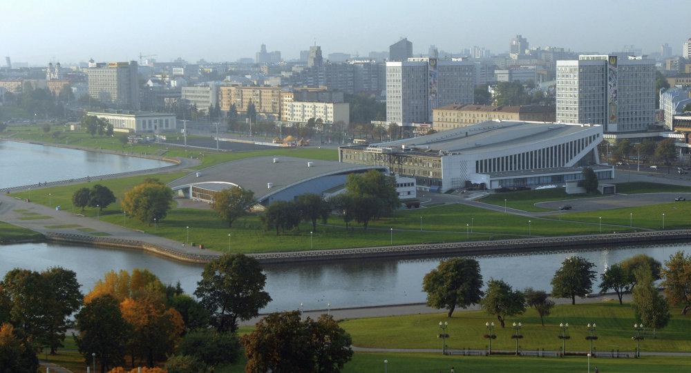 Вид города Минска
