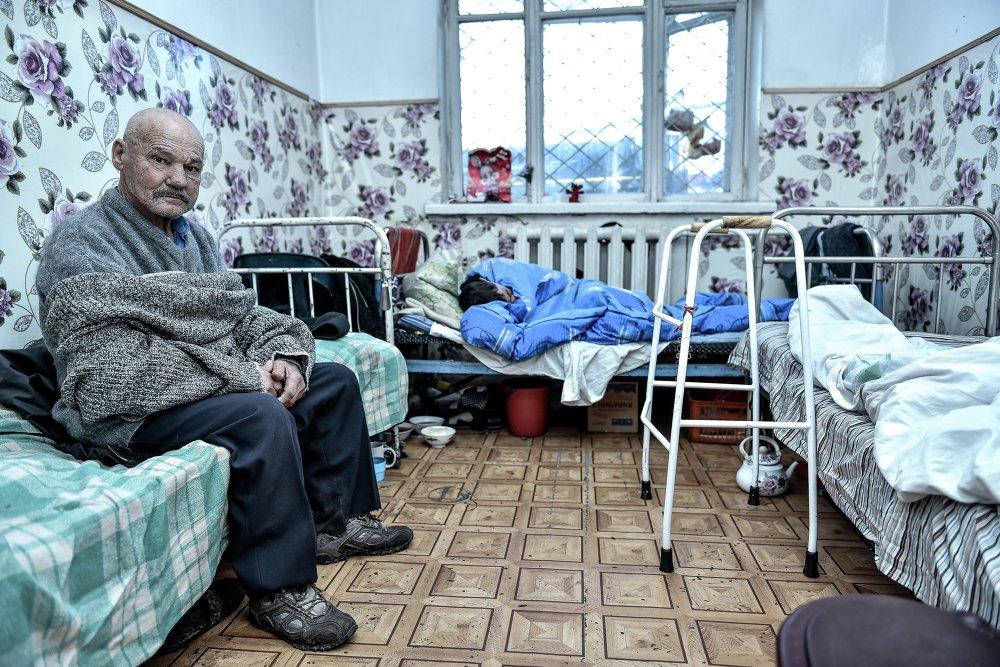 Каждая комната приюта Коломто рассчитана на трех человек.