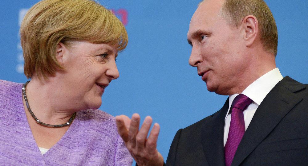 Пресс-конференция В.Путина и А.Меркель