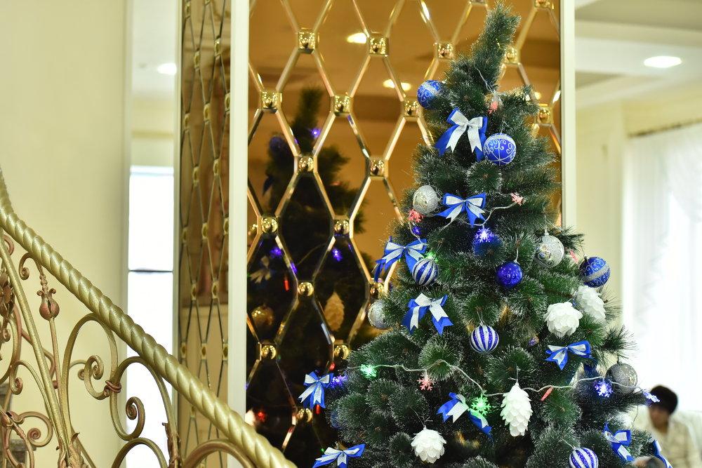 В домах по старой традиции семьи украшают елку.