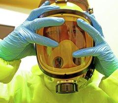 Отработка действий на случай поступления больных, инфицированных Эболой.