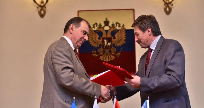 Подписание договора о реабилитации урановых поселков КР