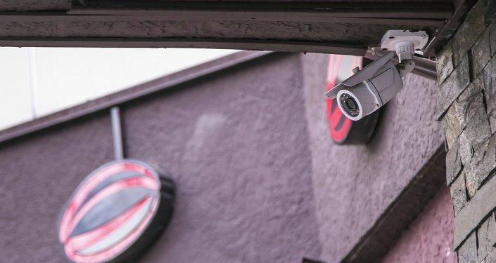 Камера внешнего видеонаблюдения на улице. Архивное фото