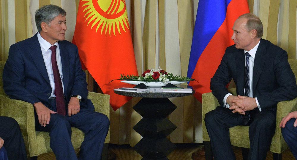 В.Путин провел рабочую встречу с А.Атамбаевым