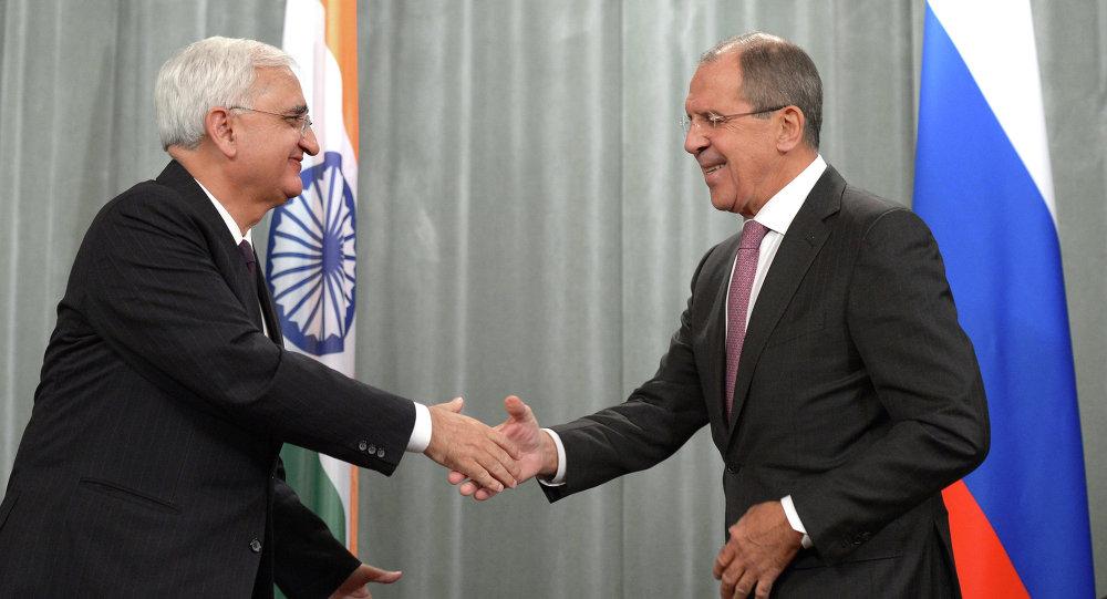 Встреча глав МИД России и Индии С.Лаврова с С.Хуршидом