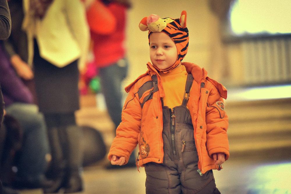 Малыш-тигренок.