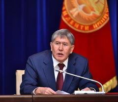 Президента Алмазбек Атамбаев. Архив