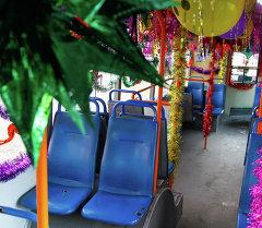 Бишкекские троллейбусы в предновогодние дни