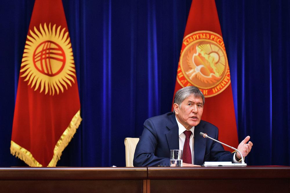 Главной темой пресс-конференции были борьба с коррупцией и вступление Кыргызстана в Таможенный союз.